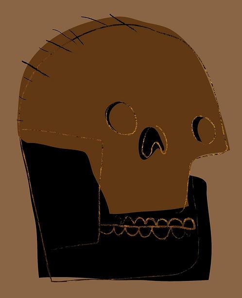 Gold Skull 2   MKL151
