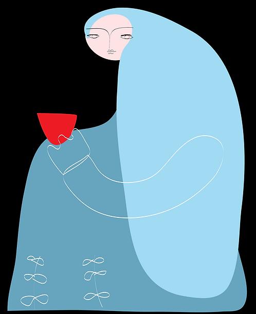 Girl Drinking Tea  PR041