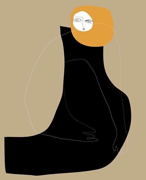 Giri With Yellow Hair PR213