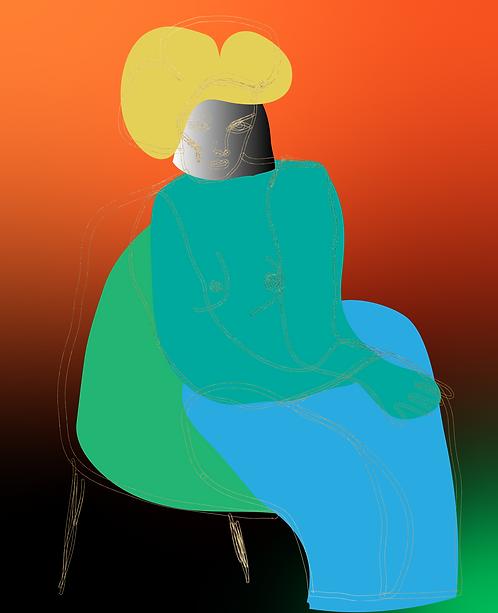 Women on Chair  FE158