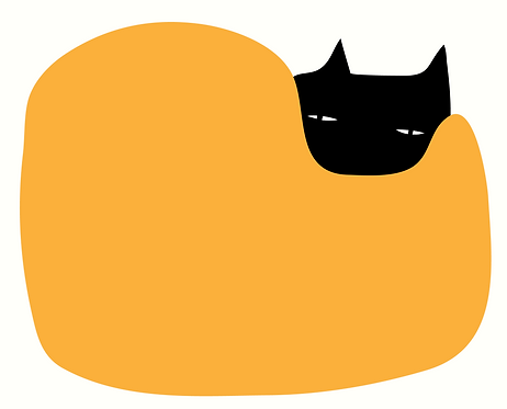 Cat in Bean Bag   AN032