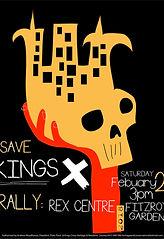 Save the Cross poster design by Sydney artist Peter Bainbridge
