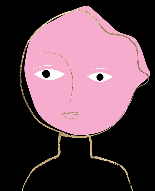 Girl with Pink Face  MKL146