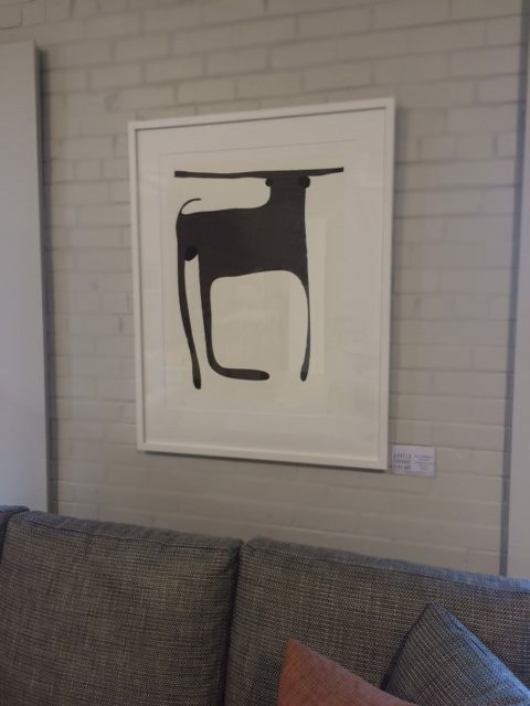 At Melbourne's Cosh Living, my legenday Bull print is framed and on display