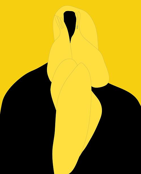 Girl In Black Dress FE182