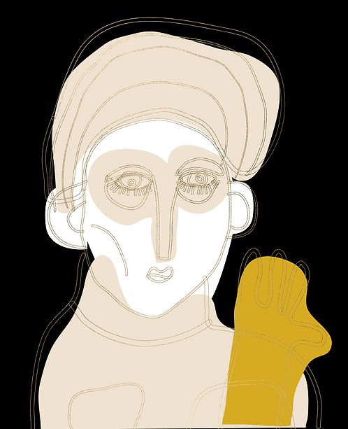 Man with Mustard Glove  PR319
