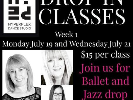 Summer Drop In classes -Week 1