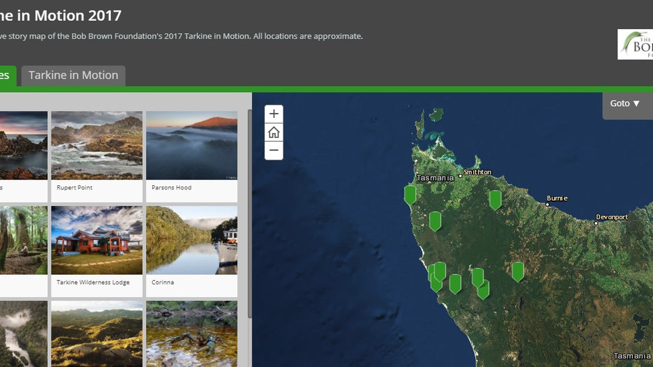 Live Mapping for the Tarkine in Motion