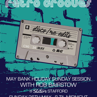 RETRO GROOVES TAPE POSTER TURQUOISE