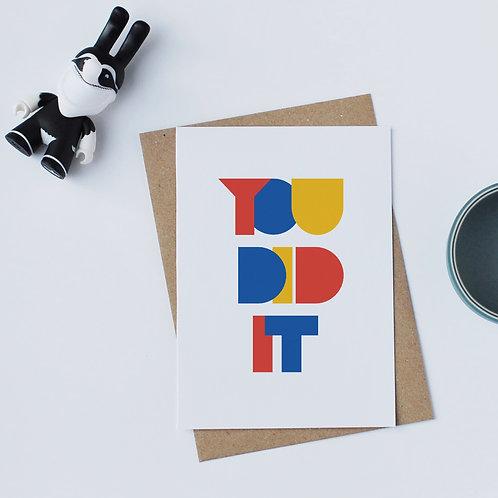 Individual Card (Geometric) - You did it
