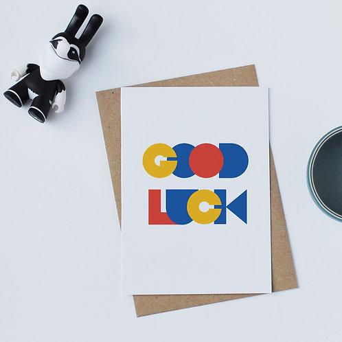 Individual Card (Geometric) - Good luck