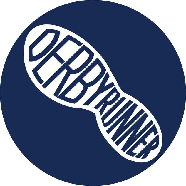 derby runner footprint round blue logo
