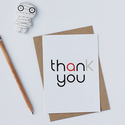 Individual Card (Curly) - Thank you