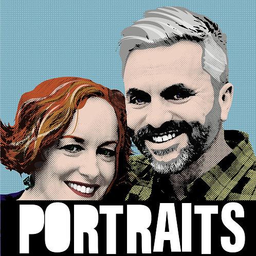 Double portrait (printed)