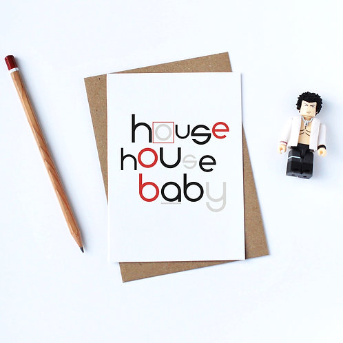 Individual Card (Curly) - House House Baby