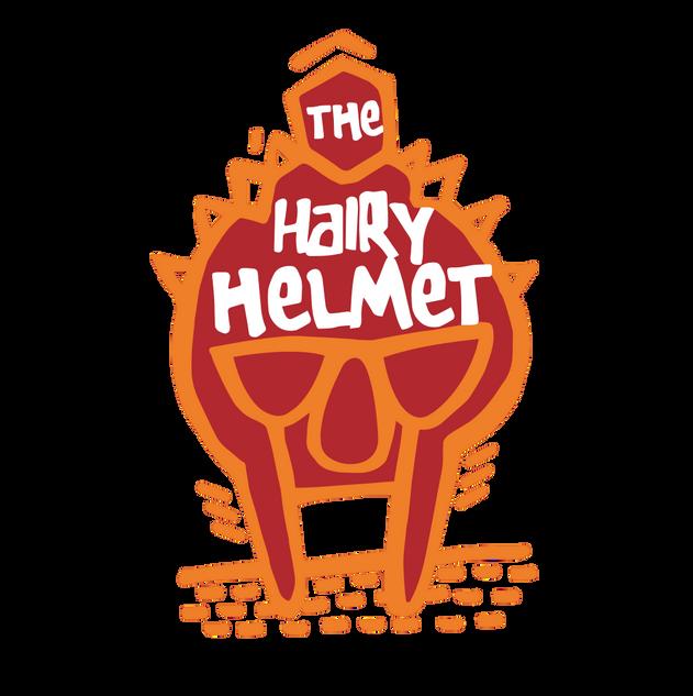 new hairy helmet logo