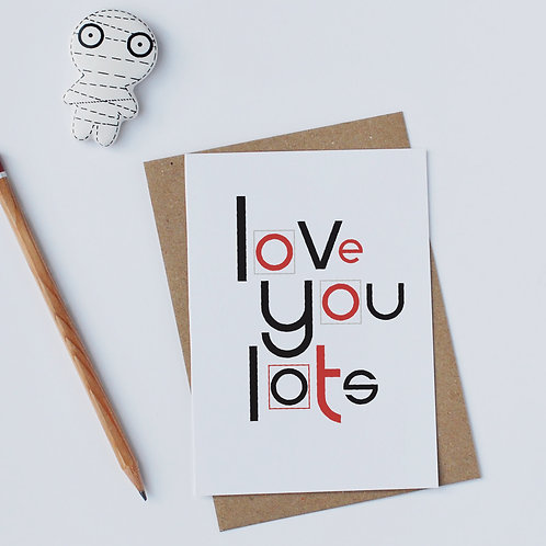 Individual Card (Curly) - Love you lots