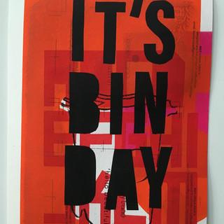 bin day screen print