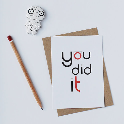 Individual Card (Curly) - You did it
