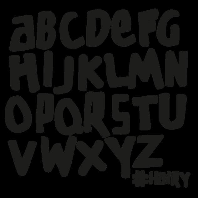 hairy alphabet
