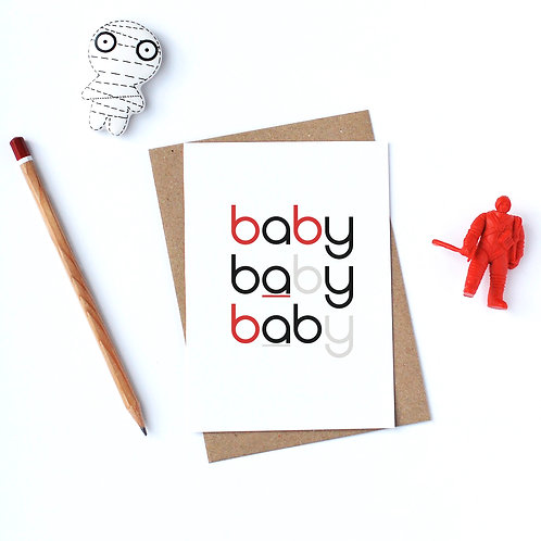 Individual Card (Curly) - Baby Baby Baby