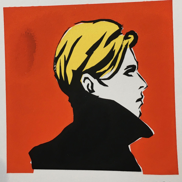 bowie screen print