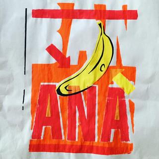 banana screen print