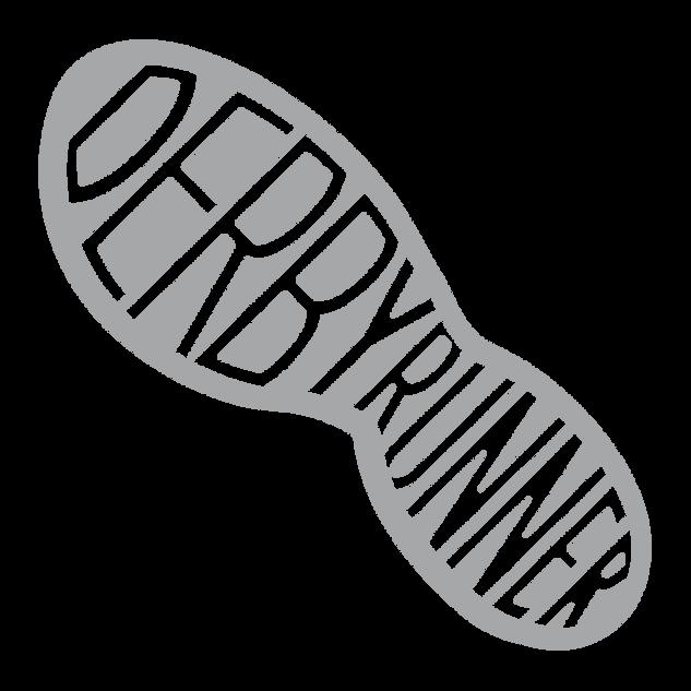 derby runner footprint silver logo