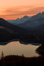 Peyto Lake sunset 3