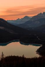 Peyto Lake sunset 3