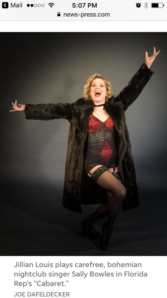 Jillian Louis Sally Cabaret News Press