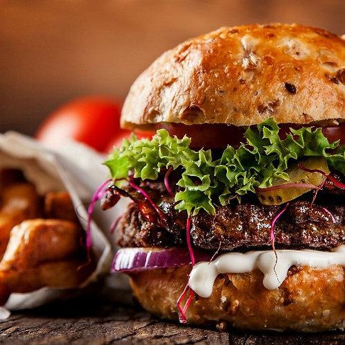 Бургер с мраморной говядиной Black Angus