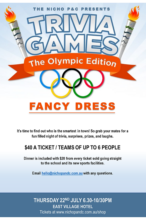 """""""Trivia Games"""" - The Olympic Edition (fancy dress code)"""