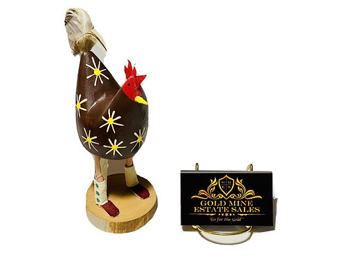 Navajo Folkart Chicken by Roy Yazzie