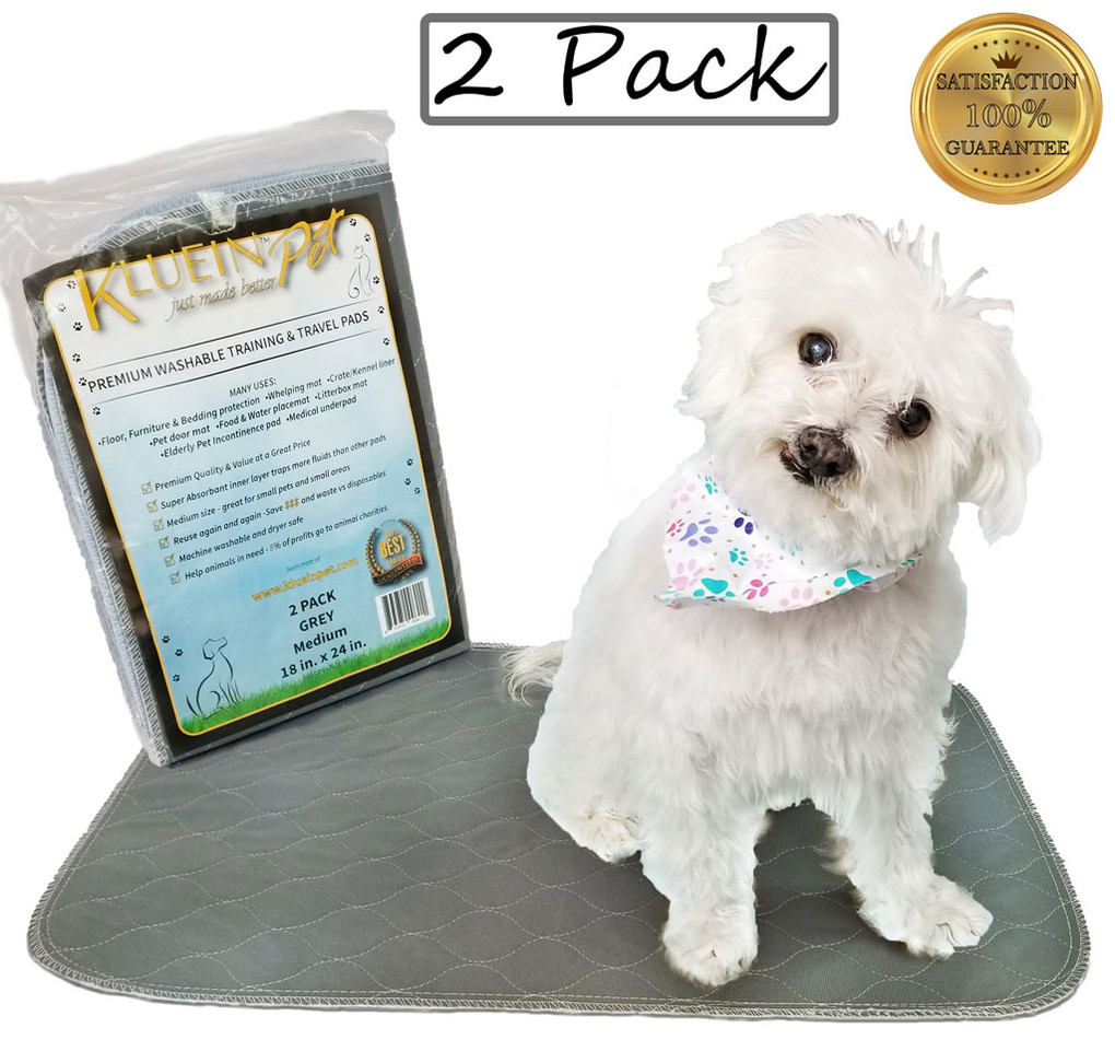 Kluein Pet Washable Pee Pads for Dogs, W