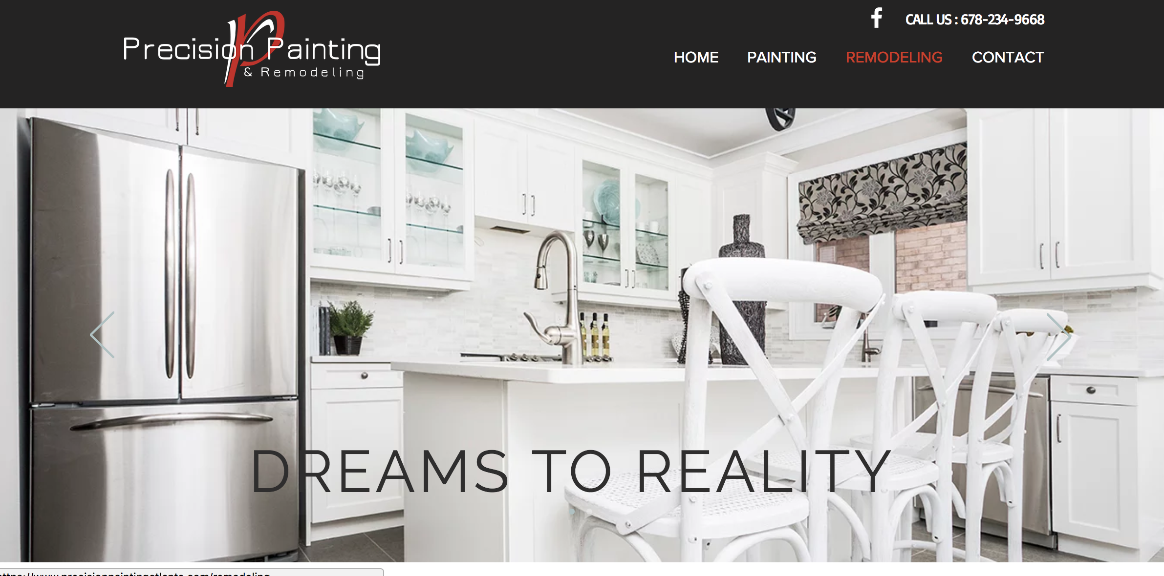 Precision Painting Mini Website