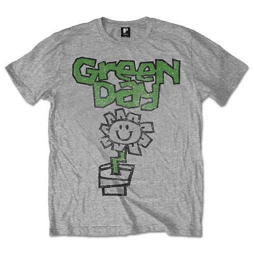 Green Day Unisex Tee: Flower Pot