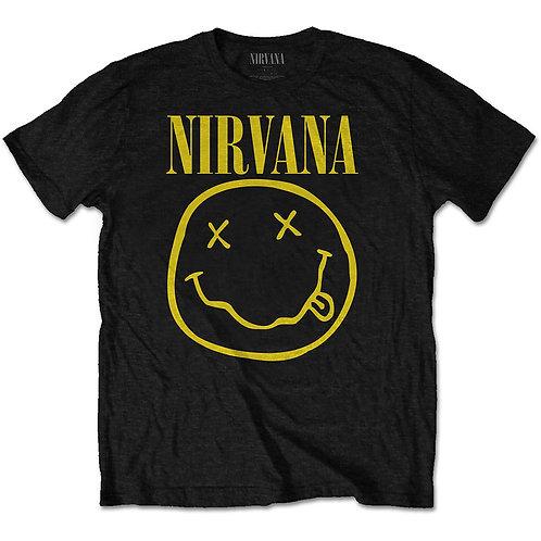 Nirvana Unisex Tee: Yellow Smiley