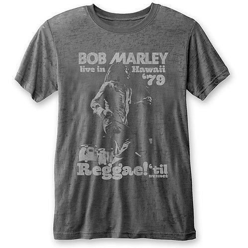 Bob Marley Unisex Tee: Hawaii (Burn Out)