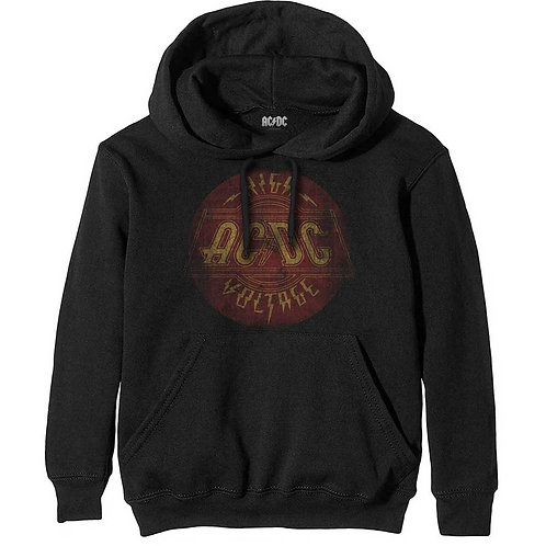 AC/DC Unisex Pullover Hoodie: High Voltage