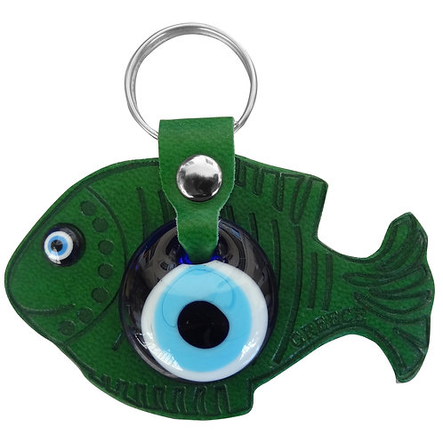 Fish Dark Green Keychain