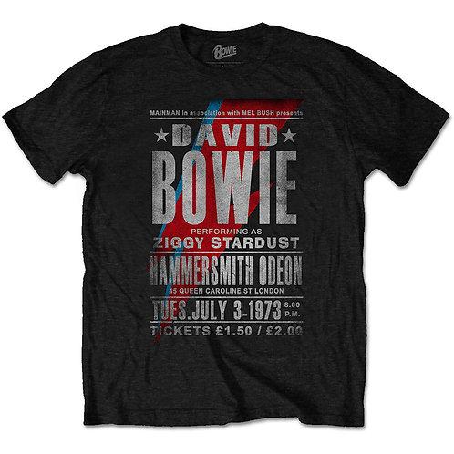 David Bowie Unisex Tee: Hammersmith Odeon