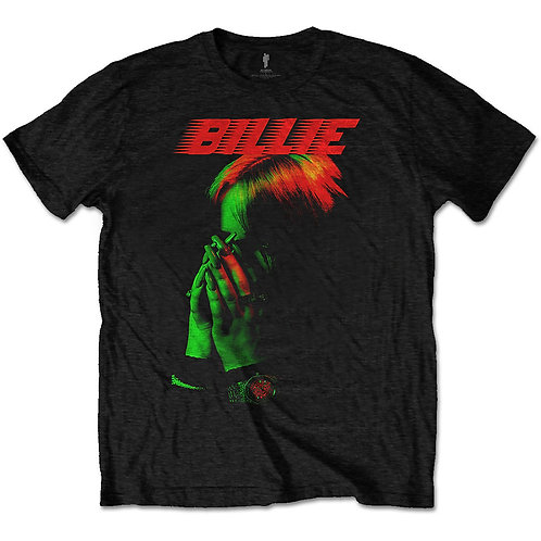 Billie Eilish Unisex Tee: Hands Face