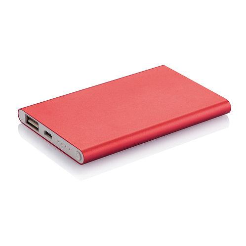 4.000 mAh Slim Powerbank Red