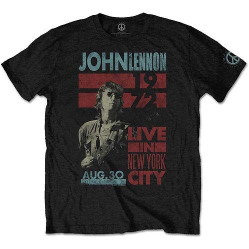 John Lennon Unisex Tee: Live in NYC