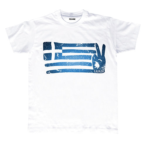 Abstract Greek Flag Unisex Tee