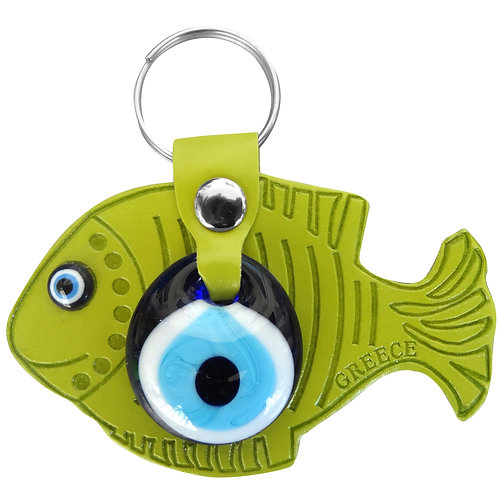 Fish Light Green Keychain