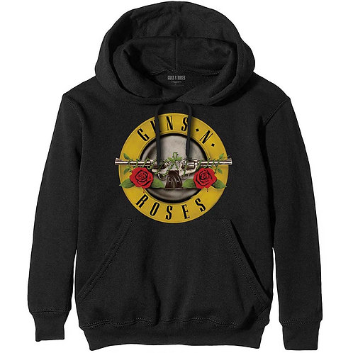 Guns N' Roses Unisex Pullover Hoodie: Classic Logo
