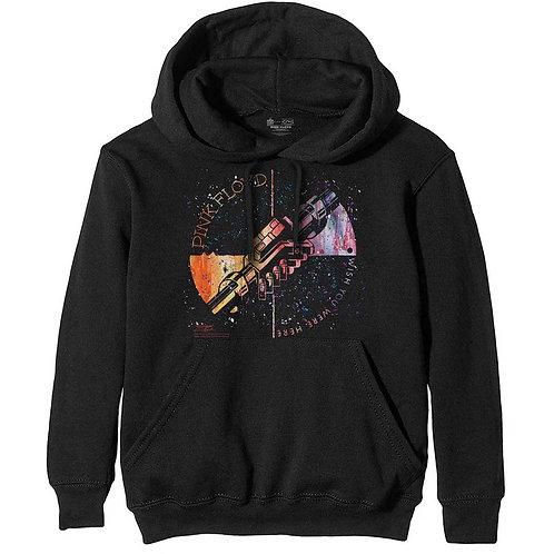 Pink Floyd Unisex Pullover Hoodie: Machine Greeting Orange