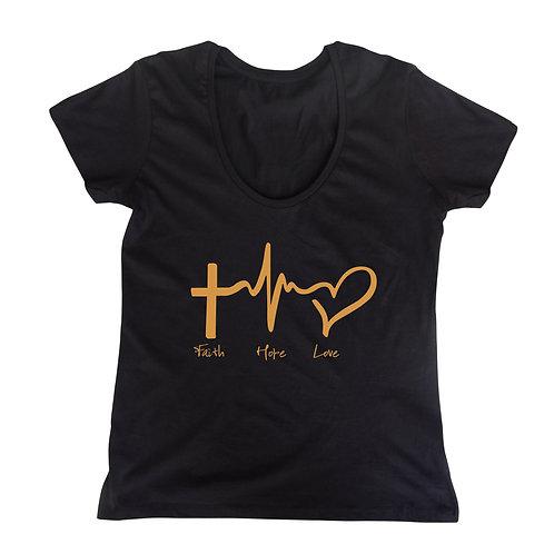 Faith Hope Love Ladies Tee